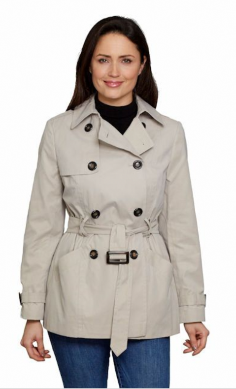 Womens Stone Trench Jacket db402
